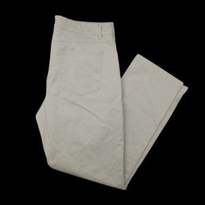 Hickey Freeman Cream 5 Pocket Dress Jeans Pants